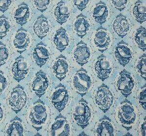 Quilting Treasures Baroque Blue Tonal QUILT FABRIC SEW BTY