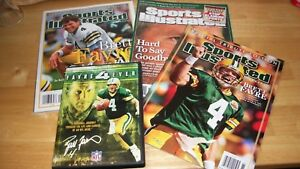 f3588a561 Sports Illustrated Brett Favre Green Bay Packers 3 Magazines & Farve ...