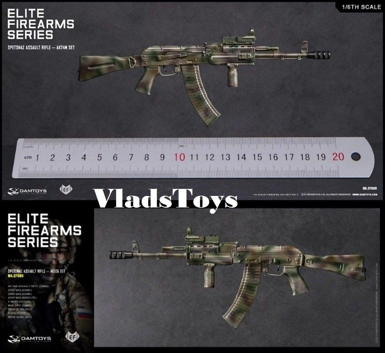 Spetsnaz Assault Rifle AK74M Set 1 6 DamToys Elite Firearms Series 2 EF009 USA
