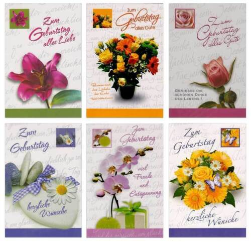 50 Geburtstagskarten Geburtstagskarte Glückwunschkarten Grußkarten 516280 TA