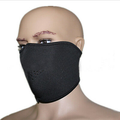 SWAT Bike Motorcycle Ski Snowboard Wear Men Half Face Pure Dark Cosplay Mask