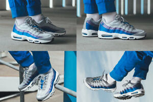 001 Air Eur Hommes '' 95 Nike Taille Se satin 45 bleu gris aj2018 violet 10 Max U7fH7Axq