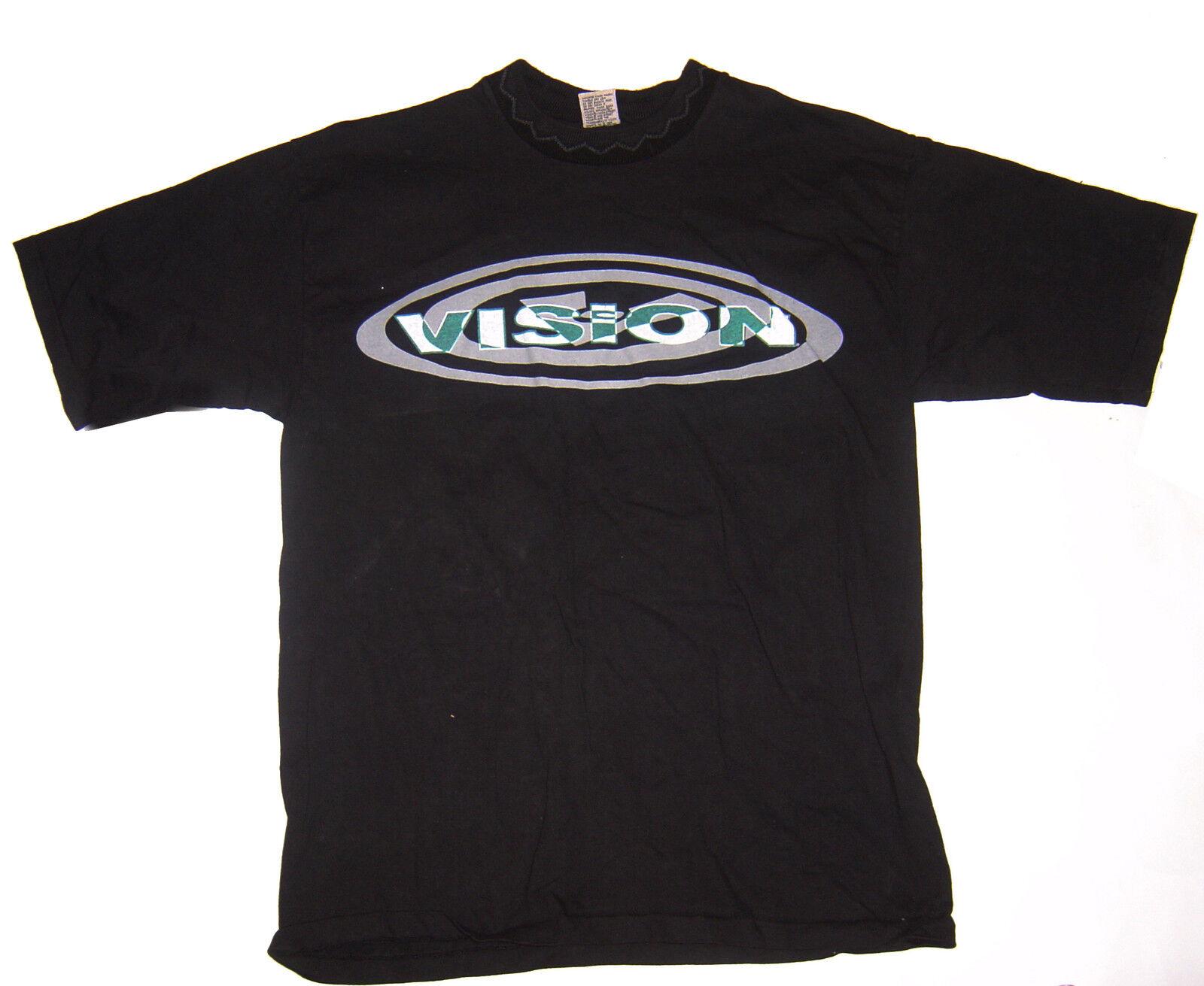 VISION STREET WEAR Oval - Logo Custom T-Shirt Hemd - Oval schwarz 80s Skateboard 09b737