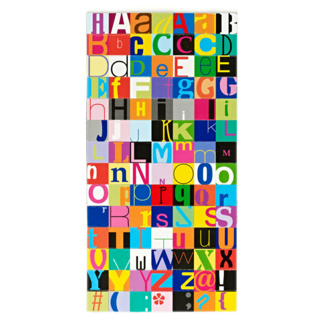 Design Ideas TYPOGRAPHY LETTER TYPE MAGNETS 98 Piece Office #3205034