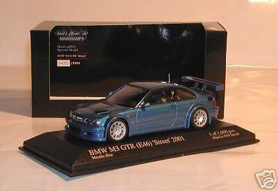 BMW M3GTR (E46) Street bluee Minicar Fun SP limit 1000