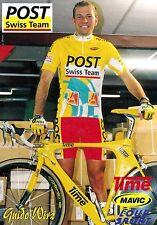CYCLISME carte  cycliste GUIDO WIRZ  équipe POST SWISS TEAM