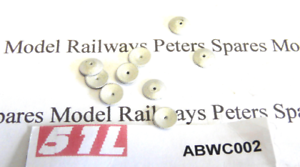 51L ABWC002 Hand Brake Wheels For Air-Braked Stock Pk10 OO Gauge