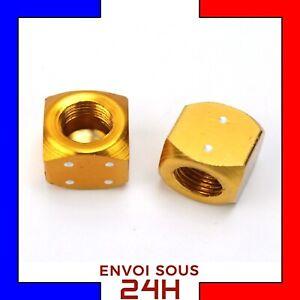 2x-Bouchon-de-Valve-VTT-Des-orange-velo-valve-cap-anti-poussiere-auto-moto-roue