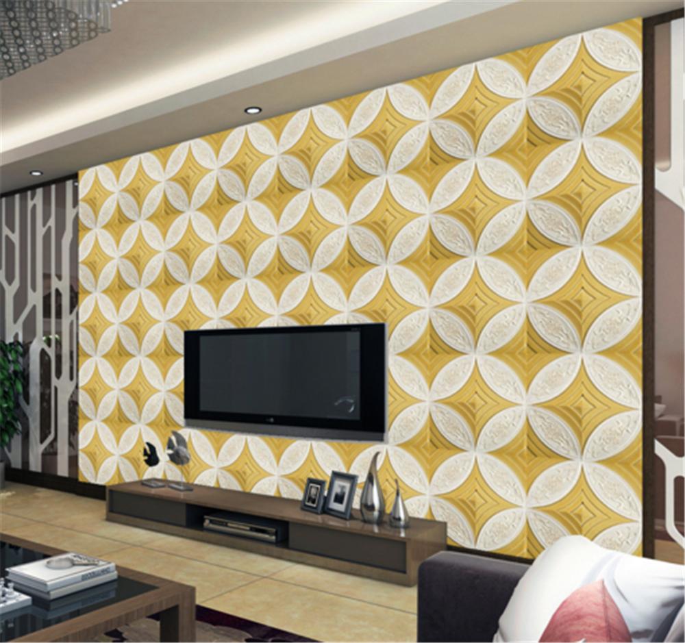 3D Gelb Pattern 772 Wallpaper Mural Paper Wall Print Wallpaper Murals UK Carly