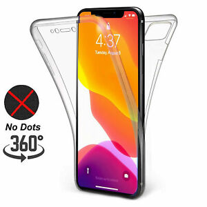 For-iPhone-11-6-7-8-8-Plus-XS-XR-Front-and-Back-Clear-Transparent-TPU-Gel-Case