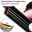 1.6M T Type Rubber Car Dashboard Edges Sealing Strip Noise Insulation Soundproof
