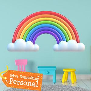 Rainbow-Wall-Stickers-Kids-Bedroom-Babies-Art-Cute-Girls-Nursery-Baby-Gift-WA003