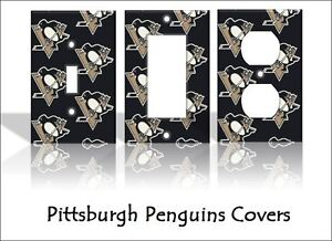 pittsburgh penguins light switch covers hockey nhl home