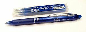 Volontaire Pilot Frixion Effaçable Clicker Pen Set Avec 3 Recharges En Bleu - 0.7mm Fine-afficher Le Titre D'origine MatéRiaux De Qualité SupéRieure