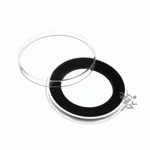 Air-Tite Brand Y45mm Black Ring Coin Capsule Holders Qty 5