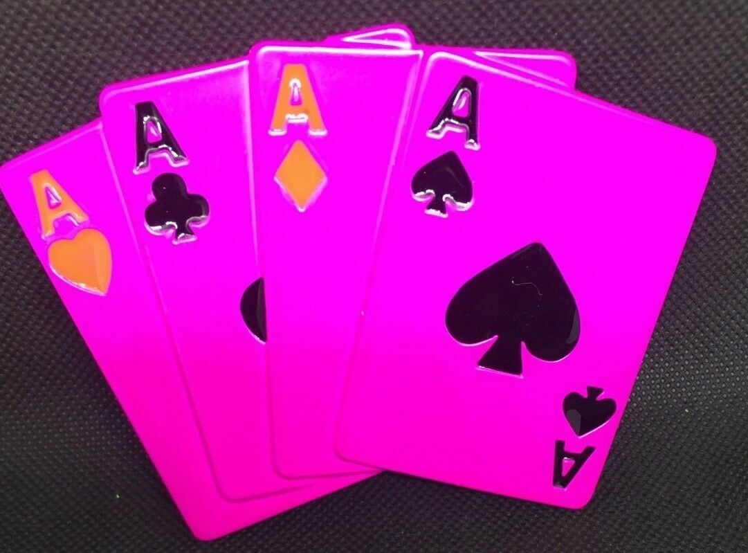 Playing Cards Belt Buckle - Pink