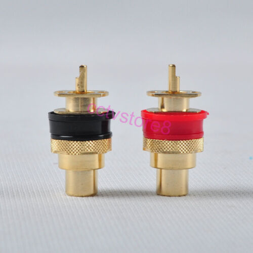 4xGold Plated Female Chassis Connector RCA Jack High Quality Car Audio Amplifier