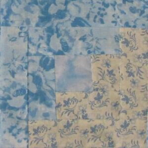 Details About Quilt Top Block Kit 16 Precut 8 5 Log Cabin Blocks Patchwork Blue Floral Usa