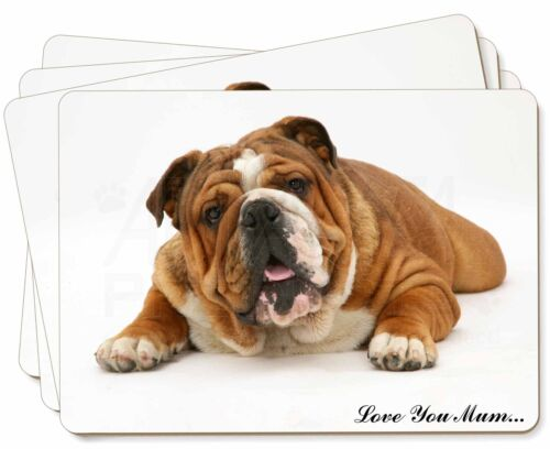 AD-BU7lymP Bulldog /'Love You Mum/' Picture Placemats in Gift Box