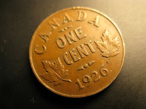 Canada-1926-Keydate-Nice-Grade-Small-Cent-Penny
