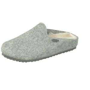 d42f29505bfb4 Details about Supersoft Women's House Shoes Clogs 522-294 Padded Felt  Slippers Light Grey New
