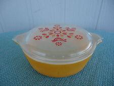 vintage retro pyrex orange partridge dove casserole dish