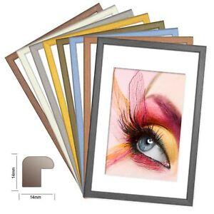 Bilderrahmen Holz Fotorahmen in 8 matten Farben Holzrahmen DENVER