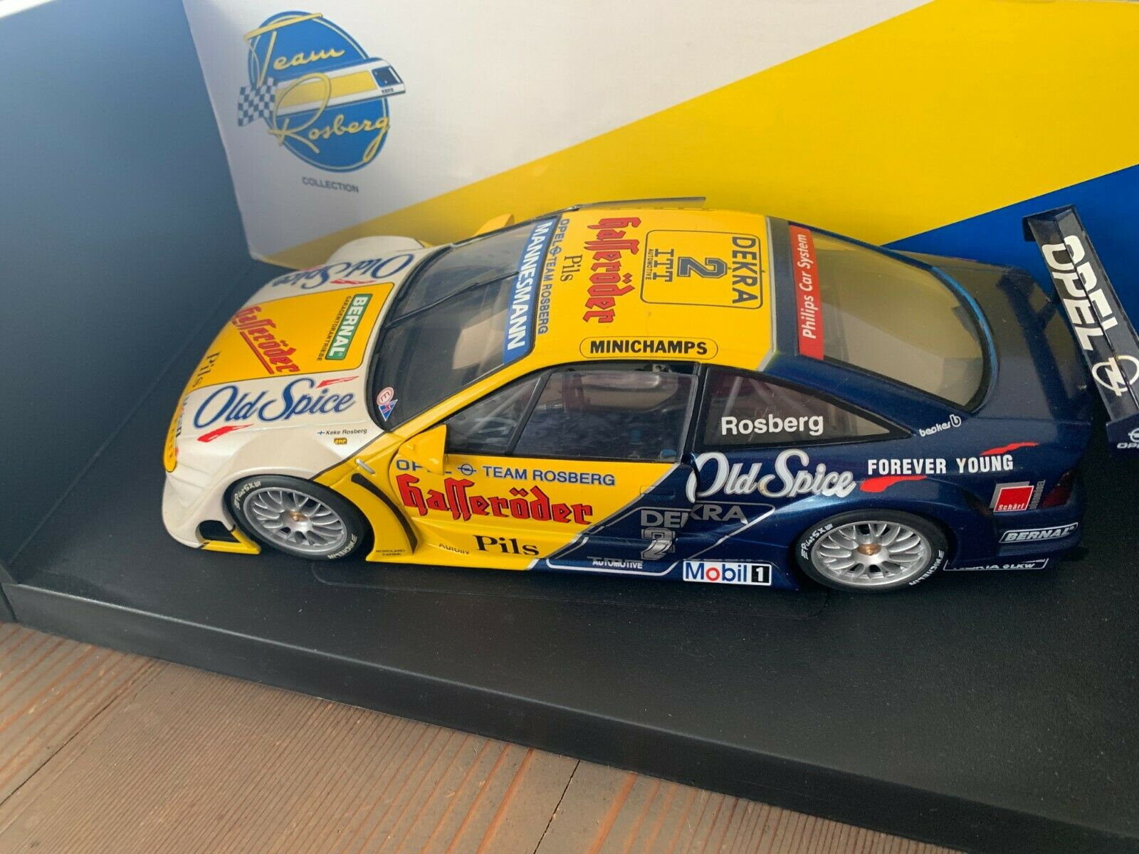 ROSBERG OPEL CALIBRA DTM 1 18 DIE CAST MODEL EXCELLENT CONDITION