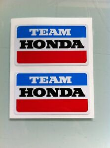 "Team Honda Number One Decal 3.25/"" CR ATC CB 125 200 250 750 900 CB CBX Elsinore"