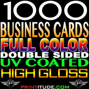 1000 full color double sided gloss business card 14pt thick image is loading 1000 full color double sided gloss business card reheart Gallery