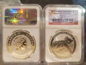 2012-Australia-Koala-1-oz-silver-coin-NGC-MS69-One-of-first-7500-struck