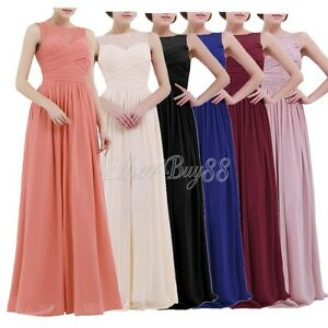 Women-Ladies-Chiffon-Lace-Bridesmaid-Dress-Long-Evening-Cocktail-Formal-Gown-UK