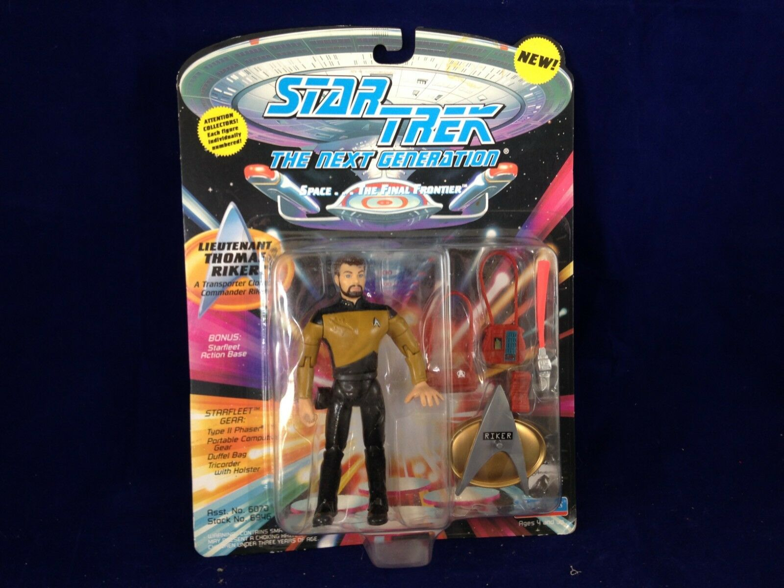 Lt Thomas Riker STAR TREK TNG TNG TNG Playmates SIP 1994 w  accessories e2c95f