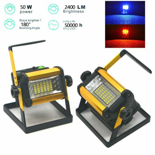 36 LED Portable Rechargeable Flood Light Spot Work Camping 50W Outdoor Lawn Lamp