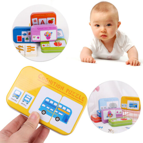 Educational Montessori Literacy Card Graph Association Learning Card Puzzle