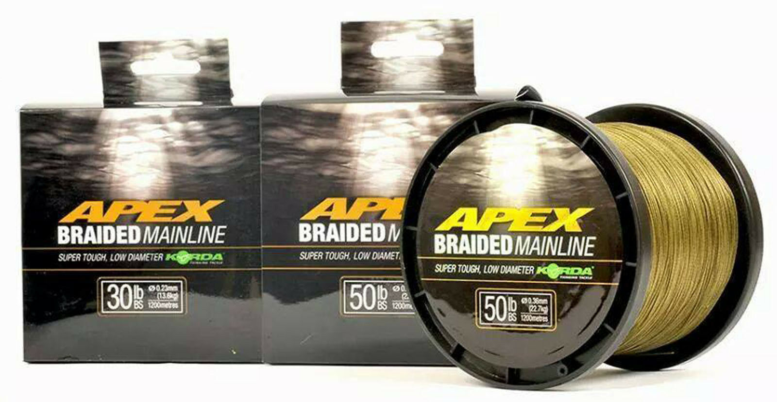Korda Apex Braided Mainline 450m 1200m 30lb 50lb Carp Coarse Fishing Braid Line