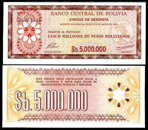 BOLIVIA-banknote-5-MIL-5-000-000-PESOS-1985-unc