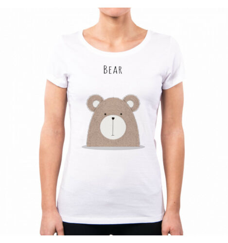 T-SHIRT DONNA SWEETIES CUTE ANIMAL RETRO/' BEAR ORSO FUNNY NENE NE0349A PACDESIGN