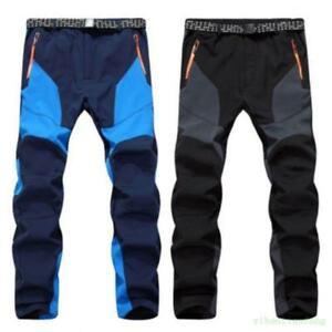 Mens Winter Thermal Warmer Trousers Sports Waterproof Camping Combat Snow Pants