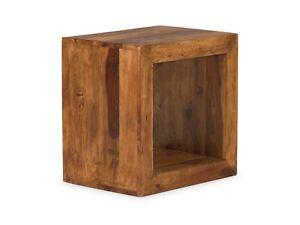 Wurfel Beistelltisch Regal Palisander Massiv Holz Mobel Neu Cube Ebay