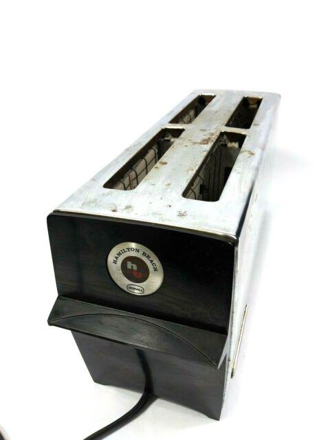 Vintage Hamilton Beach Stainless Steel 4 Slice Toaster Model 307 K11M