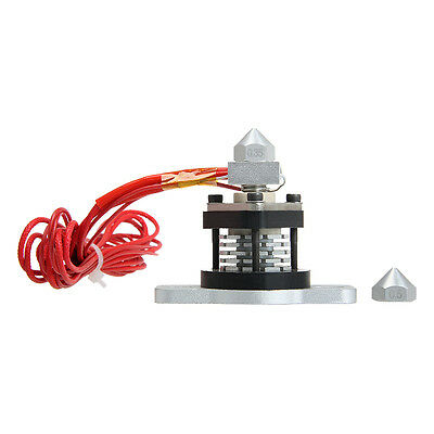 Extruder Hotend V2.0 with 2 nozzle aluminum heat sink for RepRap and 3D Printer