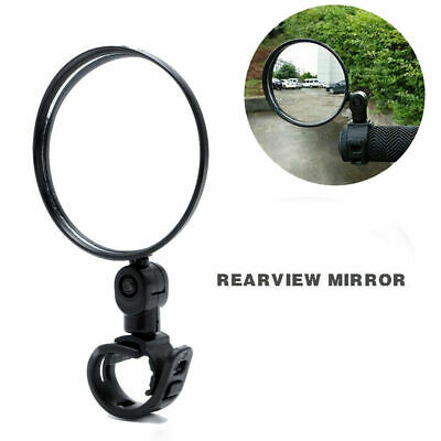 1Pc Rear View Mirror Black ABS Lightweight Large Lens Scratch Resistant Cycling