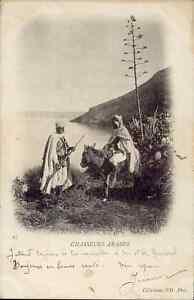 Afrique-cpa-Chasseurs-arabes