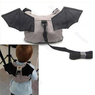 Backpack Bag Baby Kid Keeper Toddler Walking Safety Harness Strap Rein Bat