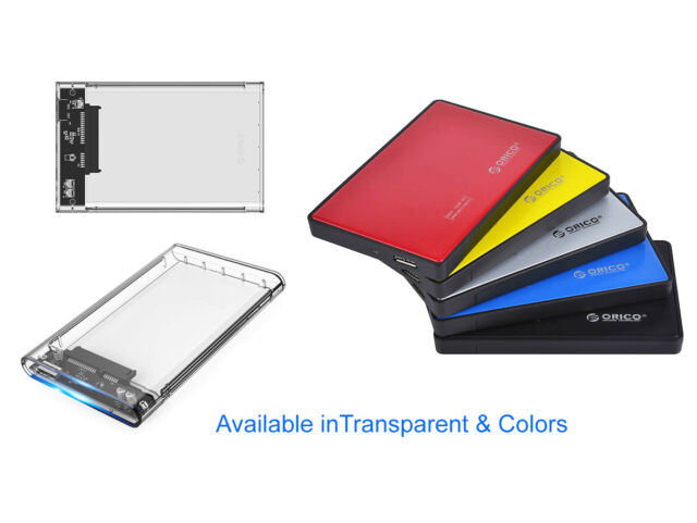 ORICO 2.5 inch SATA USB 3.0 External Hard Drive HDD SSD Enclosure Case Tool Free