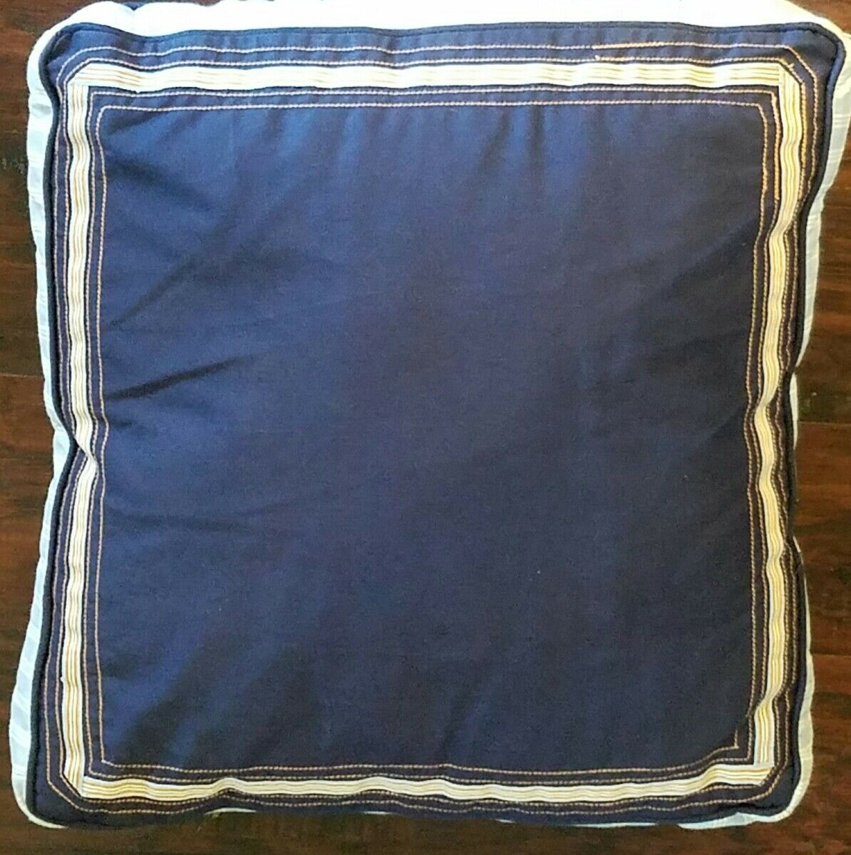 NEW NAUTICA MALIBU NAVY blueE orange SQUARE  ACCENT  PILLOW