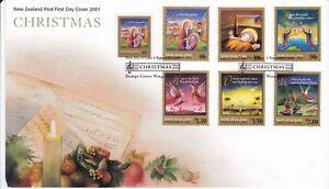 NZFD2) New Zealand 2001 Christmas Carols FDC.