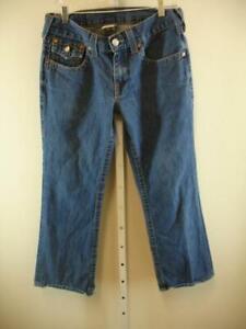 TRUE-RELIGION-Billy-Bootcut-Blue-Cotton-Denim-Jeans-USA-Made-Mens-sz-31-32-X-28