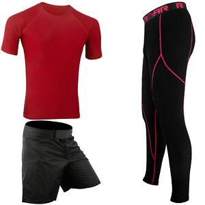 ROAR-MMA-Legging-Spat-UFC-Training-Rash-Guard-Jiu-Jistu-Grappling-Shorts-No-Gi